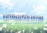 日向坂46のデビューシングル「キュン」キービジュアル