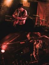 昨年12月14日(金)、東京・大塚Hearts NEXTでの高高のライブ。高瀬亮佑(上)と高田歩(下)(photo/スエヨシリョウタ)