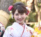 晴れ着撮影会に出席したカレッジ・コスモスの伊藤彩華 (C)ORICON NewS inc.