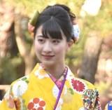 晴れ着撮影会に出席したカレッジ・コスモスの秋月香七 (C)ORICON NewS inc.