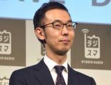スマートフォン『ラジスマ』の発売会見に出席した鈴木晶久 (C)ORICON NewS inc.