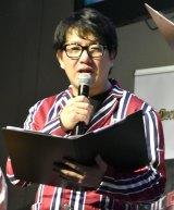 ゲーム『デビルメイクライ5』の発売前夜イベント『SSS Devil Night』に登場した平井善之 (C)ORICON NewS inc.