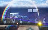 横浜アリーナが7色に染まった「JOYFUL LOVE」=『日向坂46 デビューカウントダウンライブ!!』より (C)ORICON NewS inc.
