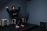 渋谷モディ1階「Sony Square Shibuya Project」で開催中。「Haptic Floor Experience」を体験する小野賢章 (C)ORICON NewS inc.