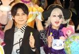 『映画プリキュアミラクルユニバース』の完成披露イベントに出席した(左から)梶裕貴、ゴー☆ジャス (C)ORICON NewS inc.