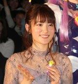 『映画プリキュアミラクルユニバース』の完成披露イベントに出席した小松未可子 (C)ORICON NewS inc.