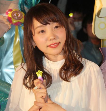 『映画プリキュアミラクルユニバース』の完成披露イベントに出席した小原好美 (C)ORICON NewS inc.