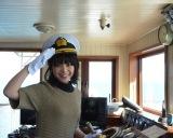 『第64回びわ湖開き』で観光遊覧船「ミシガン」の一日船長を務めた岸井ゆきの