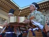『第64回びわ湖開き』山王祭実行委員の方々が黄金の鍵を伝達