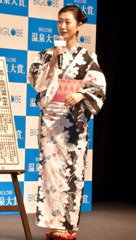 『BIGLOBE 温泉大賞』授賞式に出席した壇蜜 (C)ORICON NewS inc.