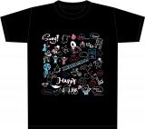 日向坂46メンバーデザインのイラストを使用したTシャツ<黒>(サイズM・L・XL)各3000円(税別)