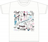 日向坂46メンバーデザインのイラストを使用したTシャツ<白>(サイズM・L・XL)各3000円(税別)