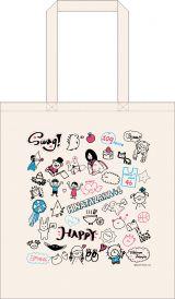 日向坂46メンバーデザインのイラストを使用したトートバッグ 3000円(税別)