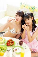 『PlatinumFLASH vol.9』に登場したNMB48・大段舞依(左)&大段結愛姉妹(C)中山雅文、光文社