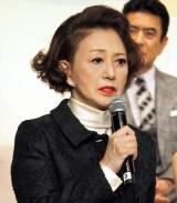 『やすらぎの刻〜道』の制作発表会見に出席した加賀まりこ (C)ORICON NewS inc.