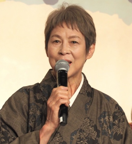『やすらぎの刻〜道』の制作発表会見に出席した丘みつ子 (C)ORICON NewS inc.