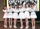 AKB48 55thシングル『ジワるDAYS』発売記念イベントに出席した(左から)坂口渚沙、小栗有以、横山由依、向井地美音、岡田奈々、岡部麟 (C)ORICON NewS inc.