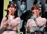 AKB48 55thシングル『ジワるDAYS』発売記念イベントに出席した(左から)小栗有以、岡田奈々 (C)ORICON NewS inc.