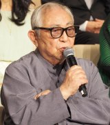 『やすらぎの刻〜道』の記者会見に出席した倉本聰 (C)ORICON NewS inc.