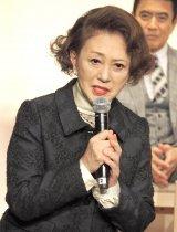 『やすらぎの刻〜道』の記者会見に出席した加賀まりこ (C)ORICON NewS inc.
