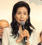 『やすらぎの刻〜道』の制作発表会見に出席した松原智恵子 (C)ORICON NewS inc.