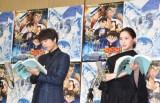『名探偵コナン 紺青の拳』の公開アフレコに参加した(左から)山崎育三郎、河北麻友子 (C)ORICON NewS inc.