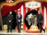 (左から)西島秀俊、コリン・ファレル、ティム・バートン監督=ディズニー映画『ダンボ』ジャパンプレミア  (C)ORICON NewS inc.