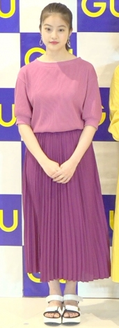 『ジーユー渋谷店』オープニングイベントに出席した今田美桜 (C)ORICON NewS inc.
