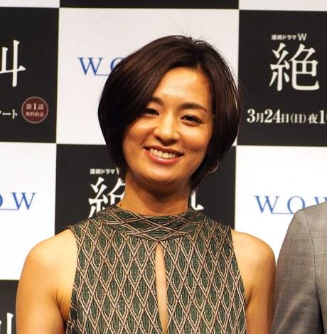 WOWOW『連続ドラマW 絶叫』完成披露試写会に出席した尾野真千子 (C)ORICON NewS inc.