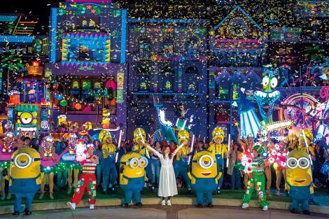 「ミニオン・ナイトパーティ at ザ・パレード」にサプライズ登場した石原さとみ 画像提供:ユニバーサル・スタジオ・ジャパン