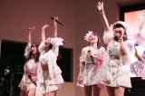 (写真左から)譜久村聖、小田さくら、森戸知沙希、羽賀朱音=モーニング娘。'19『ベスト!モーニング娘。20th Anniversary』発売記念イベント