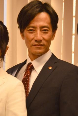 テレビ朝日『特捜9 season2』囲み取材に出席した津田寛治 (C)ORICON NewS inc.