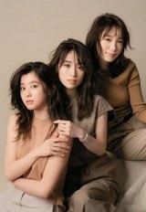 ファッション誌『Oggi』専属モデルに起用された(左から)朝比奈彩、泉里香、飯豊まりえ(撮影:中村和孝)