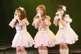10周年を迎えたSKE48 2期生(左から)高柳明音、内山命、斉藤真木子