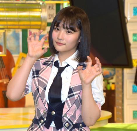 『ミライ☆モンスター』の新キャスト囲み取材に出席したAKB48・矢作萌夏 (C)ORICON NewS inc.