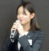 テレビ東京の入社式に出席した新人アナウンサーの田中瞳 (C)ORICON NewS inc.
