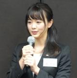 テレビ東京の入社式に出席した新人アナウンサーの森香澄 (C)ORICON NewS inc.