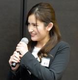 テレビ東京の入社式に出席した新人アナウンサーの池谷実悠 (C)ORICON NewS inc.