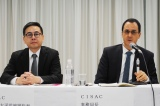 CISAC アジア太平洋地域代表のベンジャミン・グー氏(左)とCISAC(著作権協会国際連合)事務局長のガディ・オロン氏