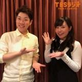 TBSラジオ『横山だいすけ はじめのいっぽ』に出演したりさお姉さん(右・上原りさ)