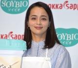 豆乳ヨーグルト『SOYBIO』の新CM発表会に参加した加藤ローサ (C)ORICON NewS inc.