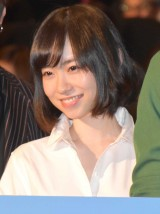 映画『僕に、会いたかった』の完成披露上映会に登壇した柴田杏花 (C)ORICON NewS inc.