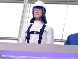 地上10メートルの窓掃除をしたミタゾノさん(松岡昌宏) (C)ORICON NewS inc.