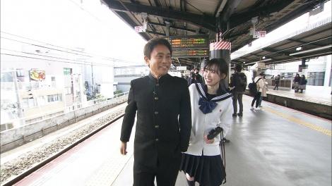 浜田雅功とセーラー服でデートした福原遥 (C)MBS