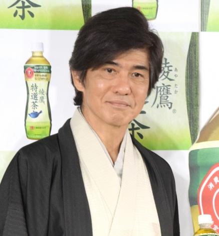 『綾鷹 特選茶』リニューアル記念イベントに出席した佐藤浩市 (C)ORICON NewS inc.