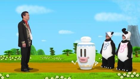 佐藤二朗が出演する『じゃじゃじゃじゃ〜ン!』の模様 (C)フジテレビ