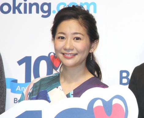 『Booking.com Japan』設立10周年記念プレスイベントに出席した関根麻里 (C)ORICON NewS inc.