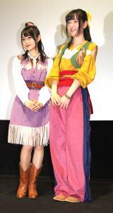 アニメキャラ衣装で登場した(左から)小倉唯、天城サリー (C)ORICON NewS inc.