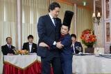 『ぐるぐるナインティナイン』に出演(左から)貴乃花光司、岡村隆史(C)日テレ
