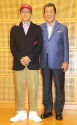 『若大将FESTIVAL2019〜君にありがとう〜』前に取材に応じた(左から)Bose、加山雄三(C)ORICON NewS inc.